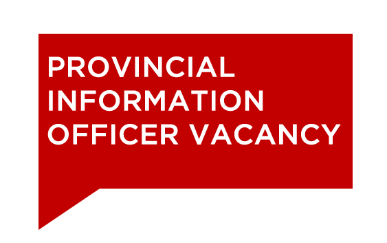 Provincial Information Officer Vacancy
